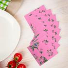 """Салфетки бумажные (набор 20 шт) 33*33 см """"Выдумка цветочная на розовом"""""""