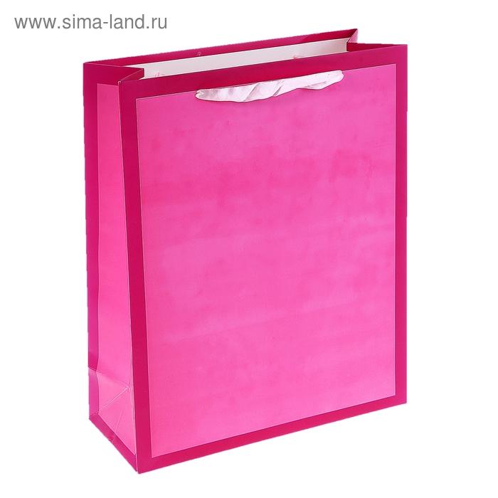 """Пакет ламинированный """"Рамка"""", цвет розовый"""