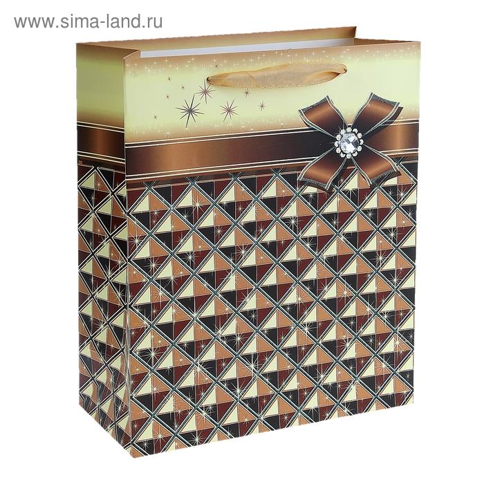 """Пакет ламинированный """"Блеск"""", цвет коричневый"""