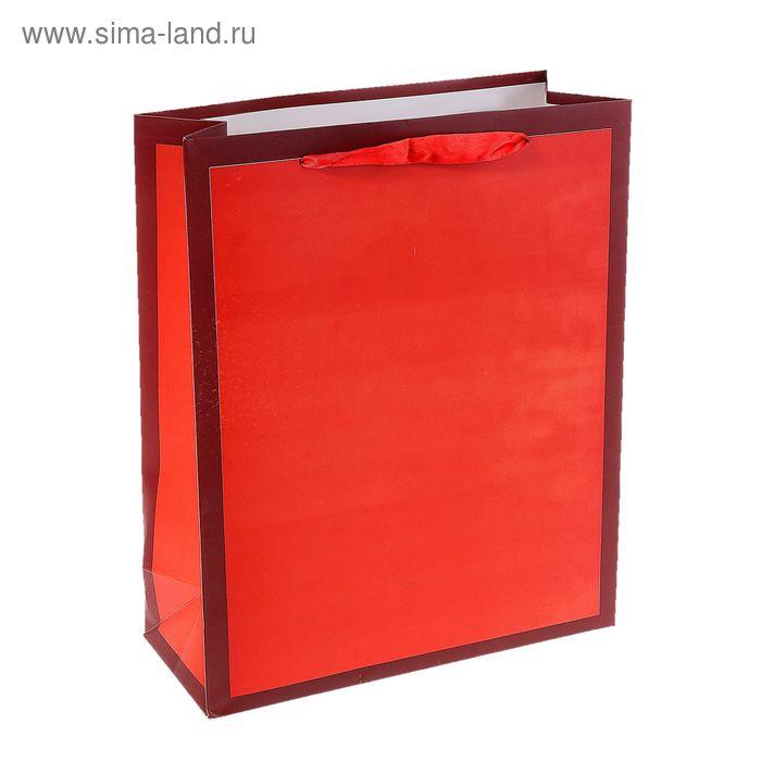 """Пакет ламинированный """"Рамка"""", цвет оранжевый"""