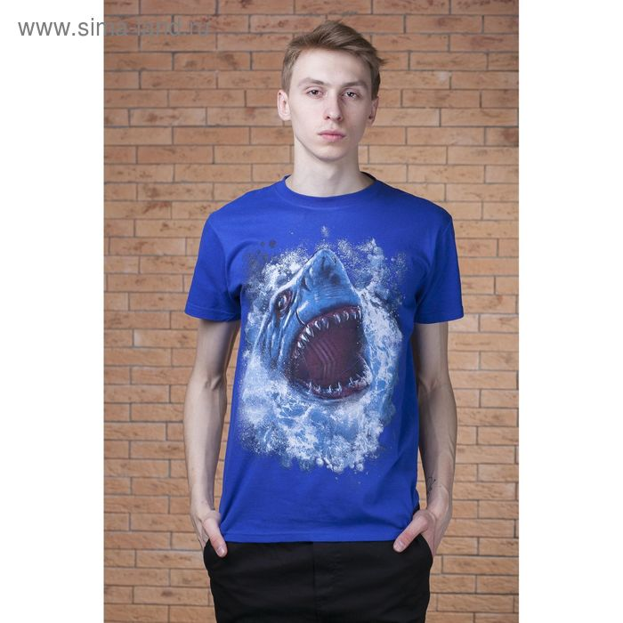 "Футболка мужская Collorista 3D ""Акула"", размер XL (50), 100% хлопок, трикотаж"
