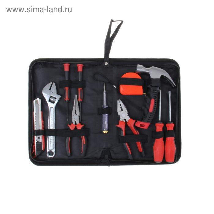 Набор инструмента TUNDRA basic, универсальный 11 предметов, кейс папка