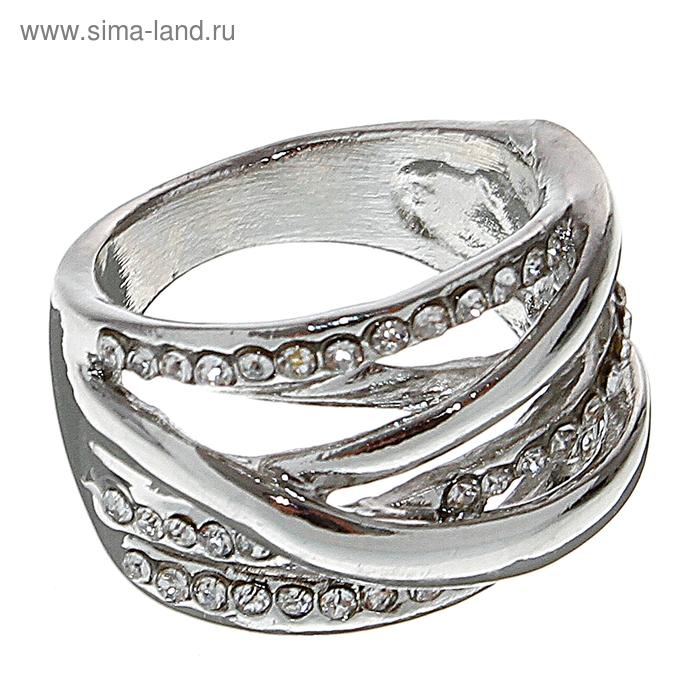 "Кольцо ""Стиль"", цвет серебро, размер МИКС"
