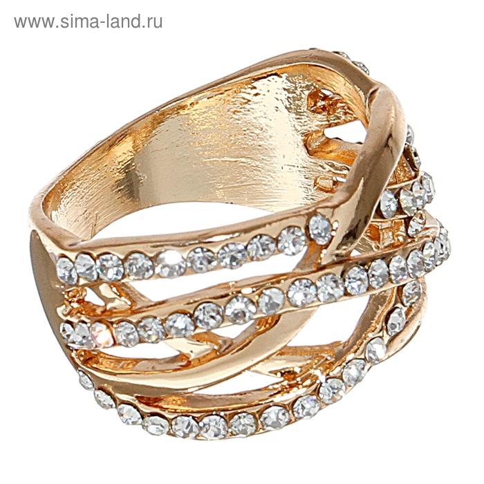 "Кольцо ""Узор"", цвет золото, размер МИКС"