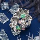 зелёно-белый в серебре
