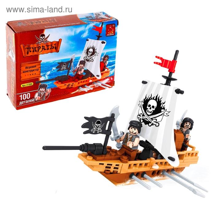 """Конструктор Пираты """"Пиратская лодка"""", 100 деталей"""