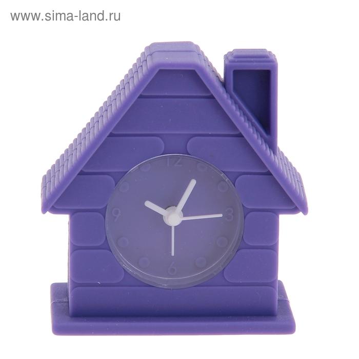 """Будильник """"Домик"""", цвет фиолетовый"""