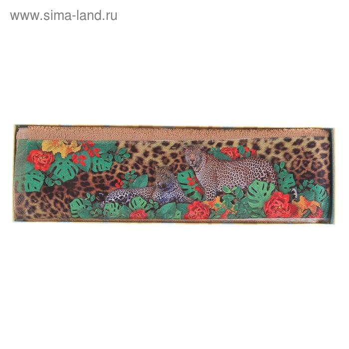 """Полотенце махровое Collorista """"Леопард"""", размер 30х70 см, 100% хлопок, 450 г/м2"""