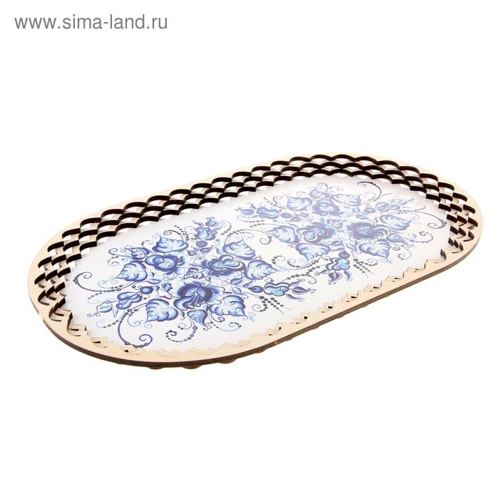 """Поднос  """"Синие цветы"""""""