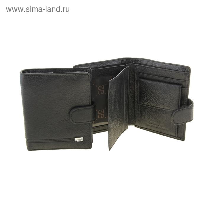 """Кошелёк мужской """"Эрнест"""", 2 отдела, отдел для кредиток, монетница, цвет чёрный"""