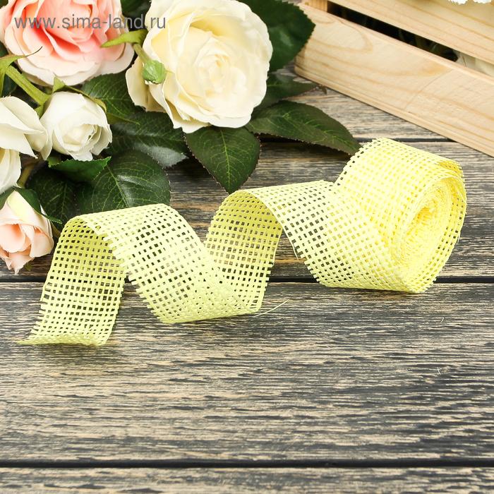 Лента упаковочная, цвет лимонный