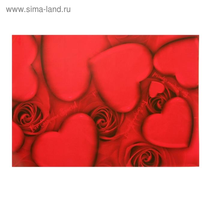 """Бумага для творчества """"Красные сердца"""" А4 плотность 80 гр"""