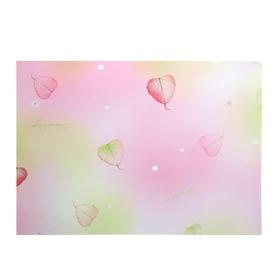"Бумага для творчества ""Листочки на розовом"" А4 плотность 80 гр"