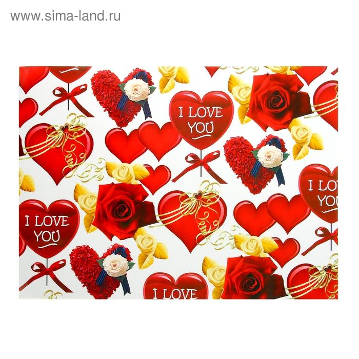 """Бумага для творчества """"Сердца и розы"""" А4 плотность 80 гр"""