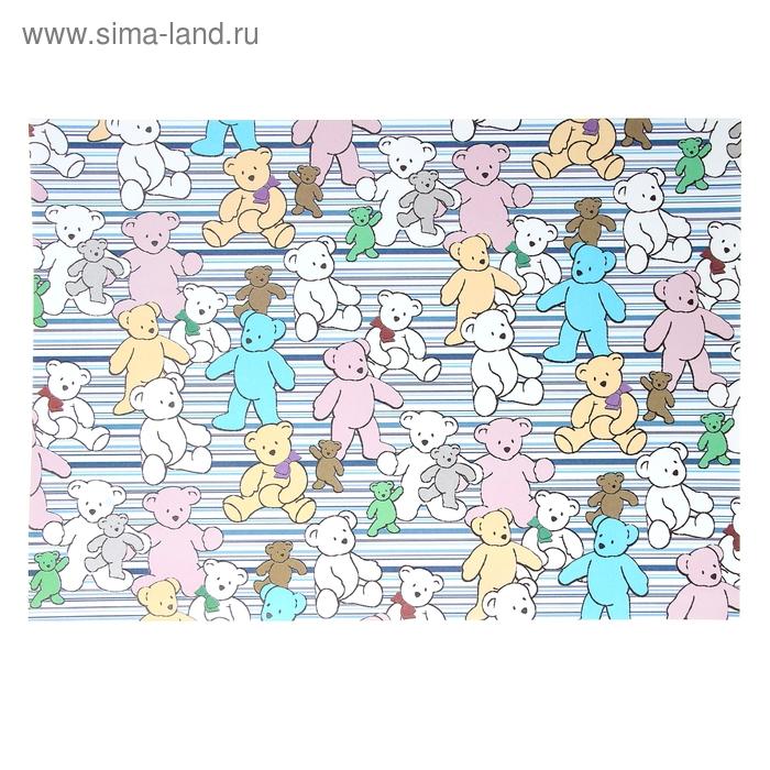 """Бумага для творчества """"Цветные медведи"""" А4 плотность 80 гр"""