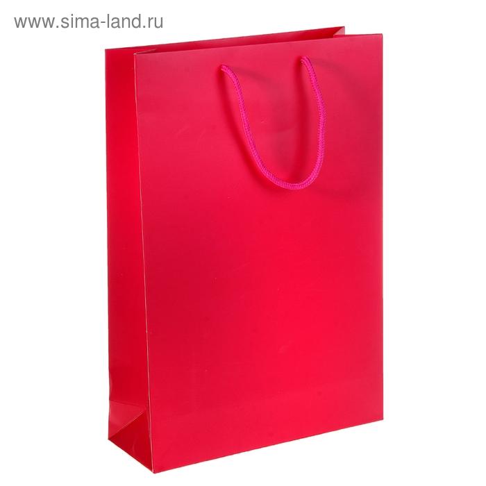 Пакет ламинированный, цвет розовый