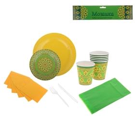 Набор бумажной посуды 'Мозаика' на 6 персон Ош