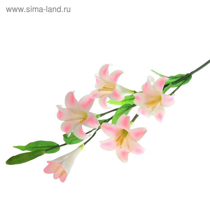 """Цветы искусственные """"Бело-розовый лилейник"""""""