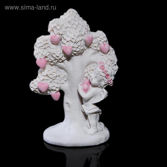 """Сувенир """"Ангел у дерева с сердцами"""""""