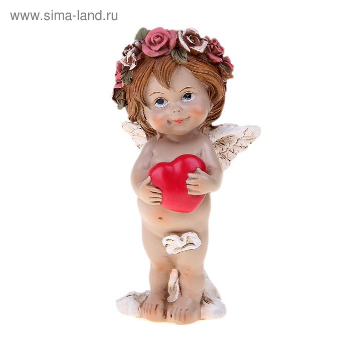 """Сувенир """"Ангел в веночке с сердцем"""""""