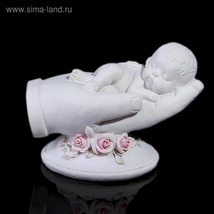 """Сувенир """"Ангел в ладошке-соня"""" на подставке"""