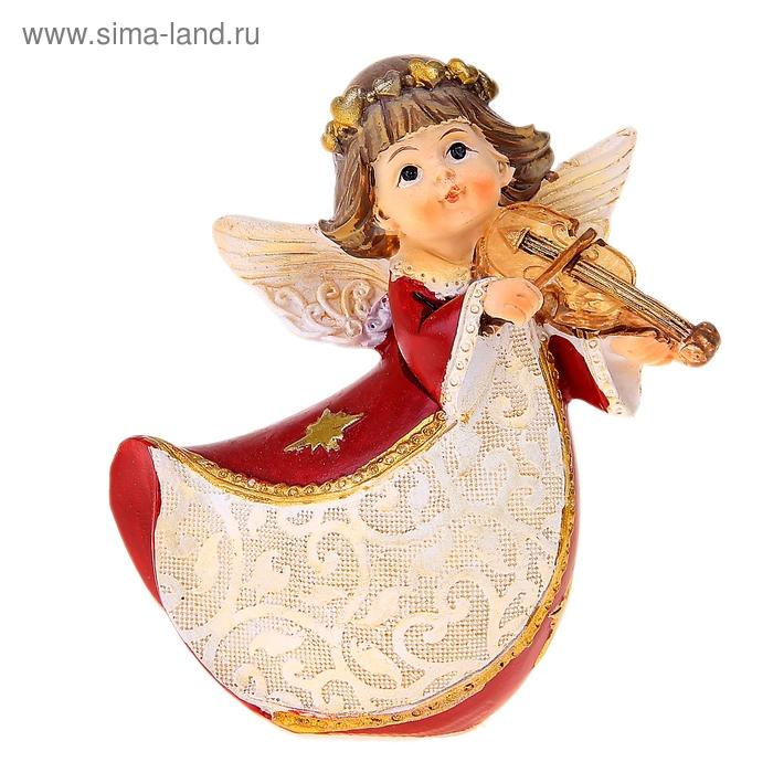 """Сувенир """"Ангел в красном платье с музыкальным инструментом"""" МИКС"""