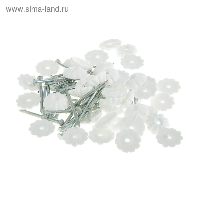 Гвозди декоративные белые 1,6х25 мм, 40 шт.