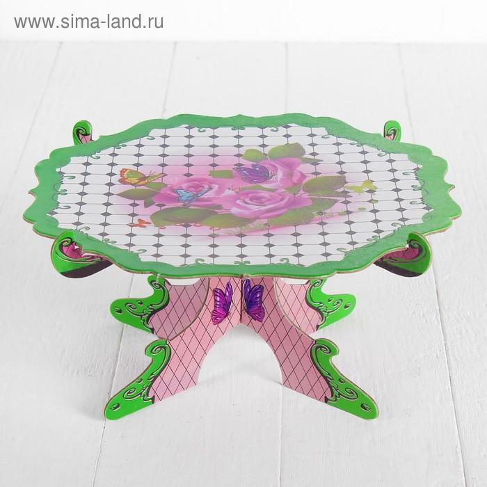 """Подставка для пирожных """"Вкусняшка"""", цвета МИКС"""