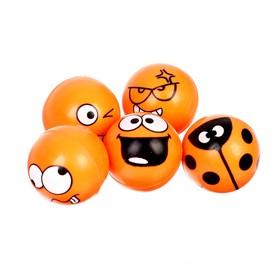 """Мяч каучук """"Смайлики"""" 2,7 см, цвета МИКС"""