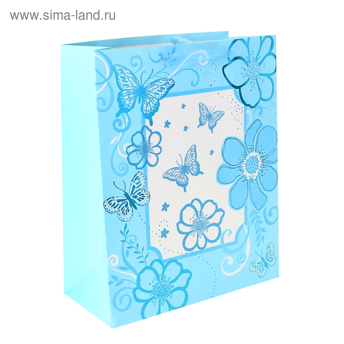 """Пакет ламинированный """"Фоторамка"""", цвет голубой"""