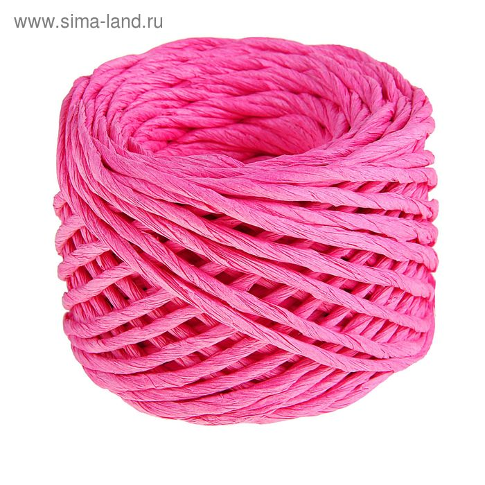 Шпагат декоративный, цвет ярко-розовый