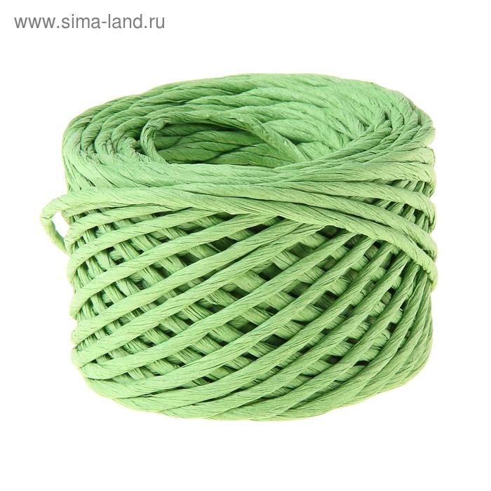 Шпагат декоративный, цвет зелёный