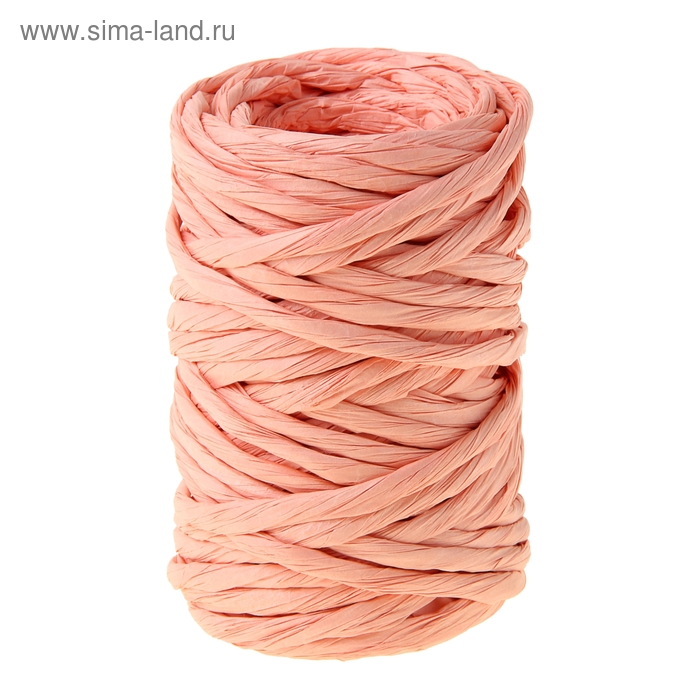 Шпагат декоративный, цвет персиковый