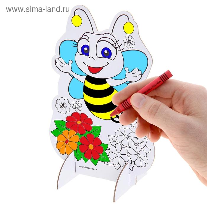 """3D-раскраска """"Пчелка"""" и 6 восковых карандашей"""