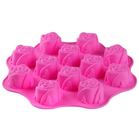 """Форма для выпечки """"Море роз"""", 12 ячеек, цвета МИКС"""