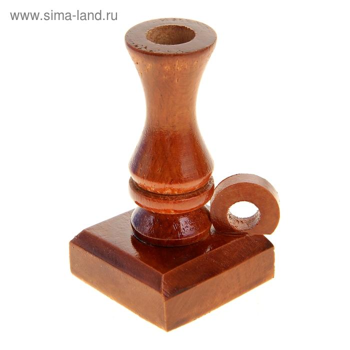 Подсвечник деревянный с ручкой