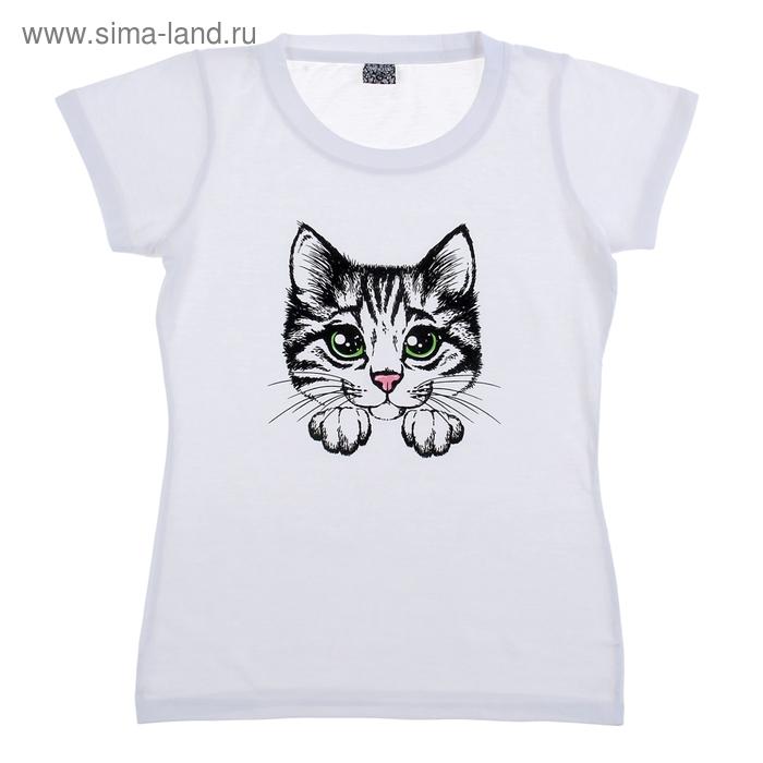 """Футболка женская Collorista """"Котёнок"""", размер L, 100% хлопок, трикотаж"""