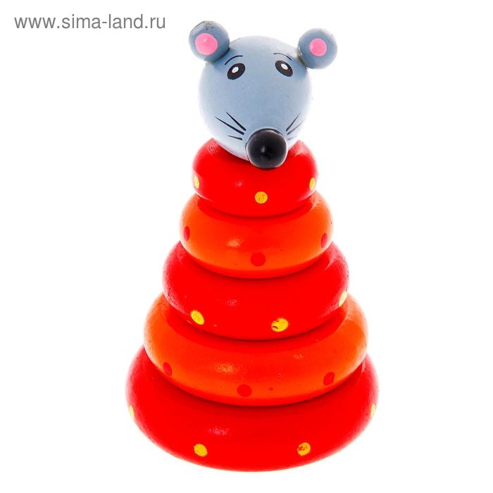 """Пирамидка """"Мышонок"""", 5 колец"""