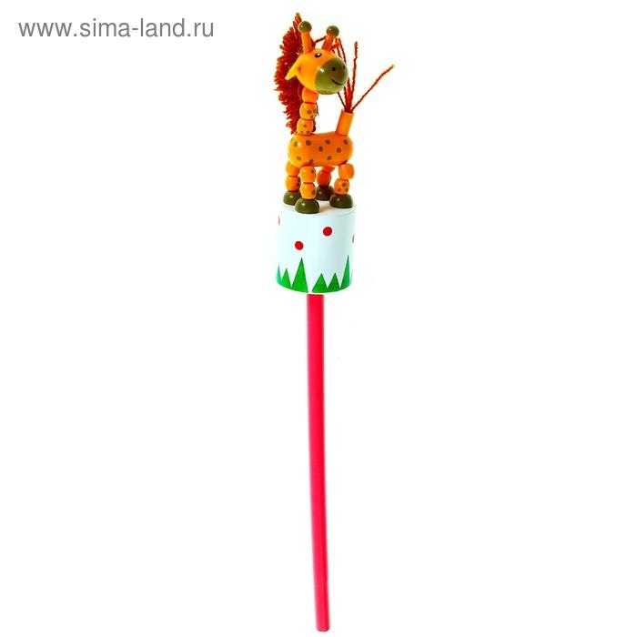 """Карандаш деревянный - дергунчик """"Жирафик"""""""