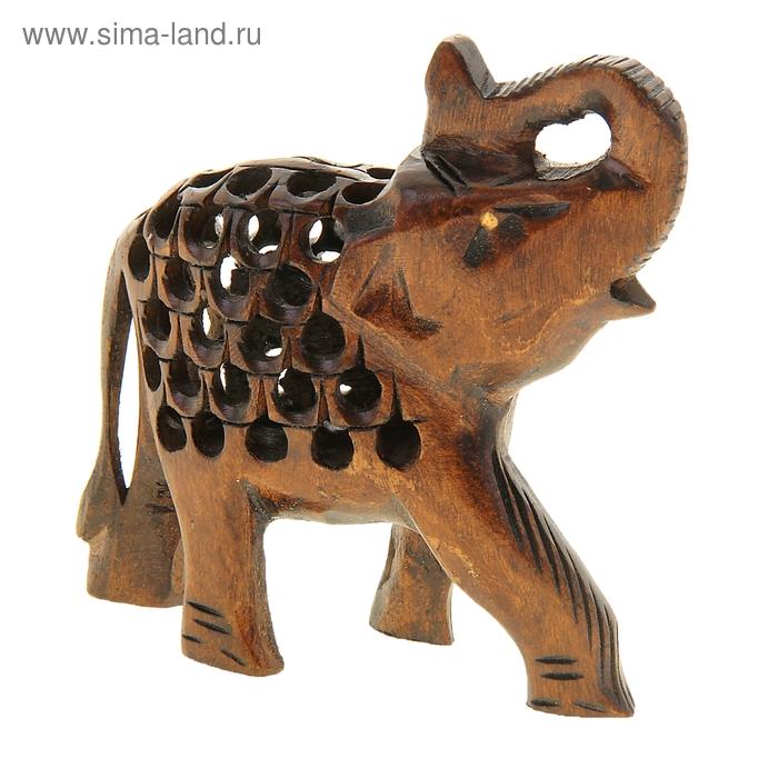 "Сувенир ""Слон-счастливчик"" резной"