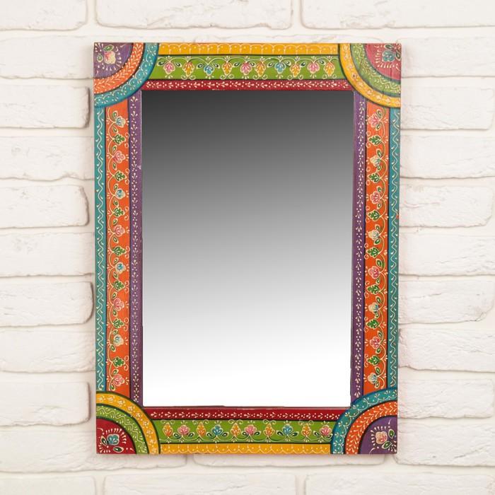 """Зеркало """"Цветные полосы с узором"""""""