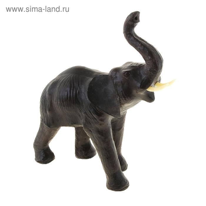 """Сувенир """"Слон"""", обтянутый кожей"""