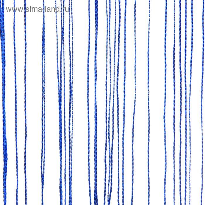 "Штора нитяная 100х200 см ""Причуда"", цвет синий"