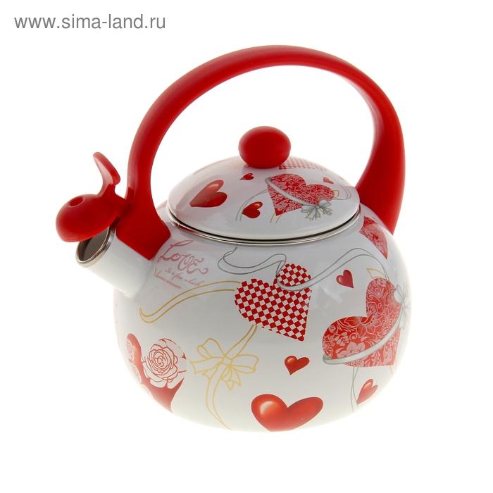 """Чайник со свистком 2,2 л """"С любовью"""""""