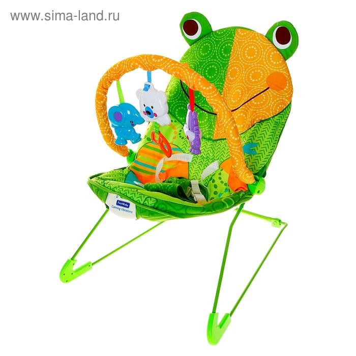 """Баунсер """"Лягушка"""" с музыкальным сопровождением"""