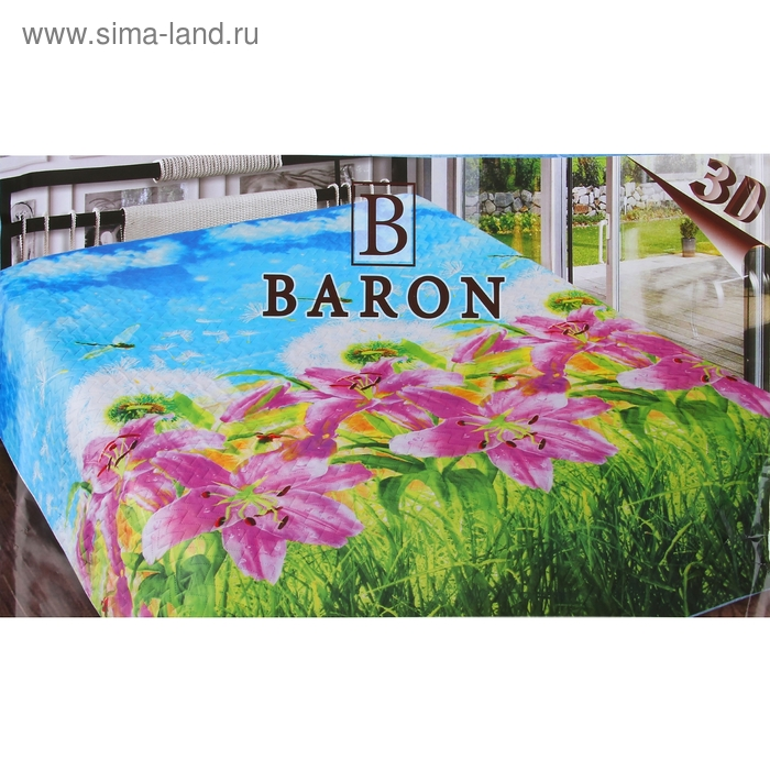 Покрывало Marianna Baron, размер 200х220 см, 100% полиэстер, рисунок 2378