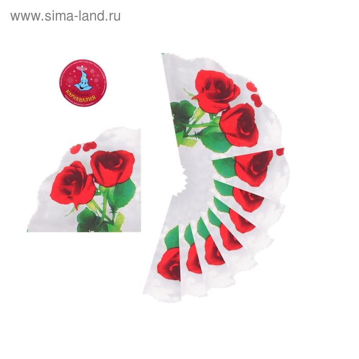 """Салфетки бумажные, вырезные (набор 20 шт) """"Розы"""", 33*33 см"""