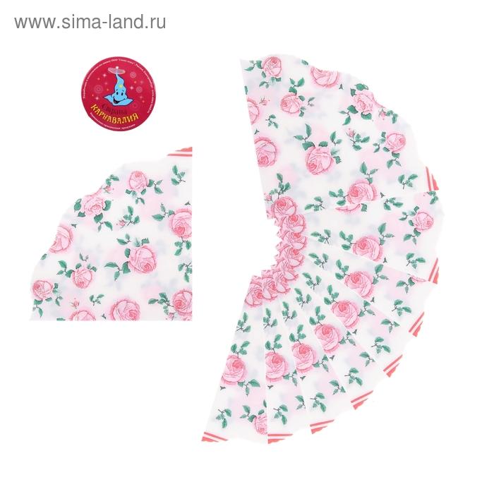 """Салфетки бумажные, вырезные (набор 20 шт) """"Розовые розы"""", 33*33 см"""