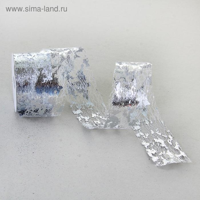 Лента упаковочная, цвет серебро