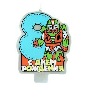 """Свеча в торт """"Герой"""" цифра """"8"""""""